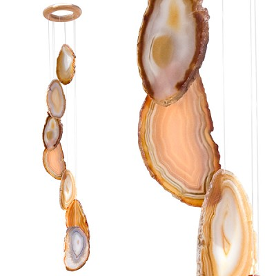 Agate Wind Chimes - (Medium) Natural