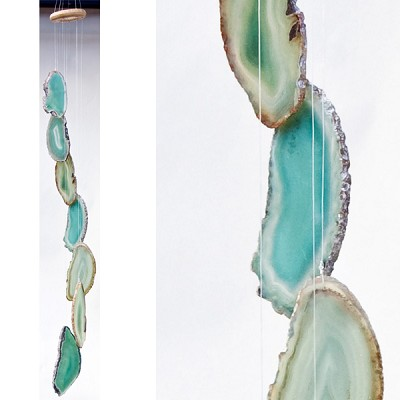 Agate Wind Chimes - (Small) Green