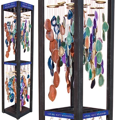 Agate Wind Chimes Display - Assorted (48/display)