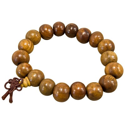 Wood Japa Mala Bracelet - Dark Beads