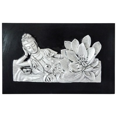Resting Kwan Yin Wall Plaque Wholesale Meditation Supplies