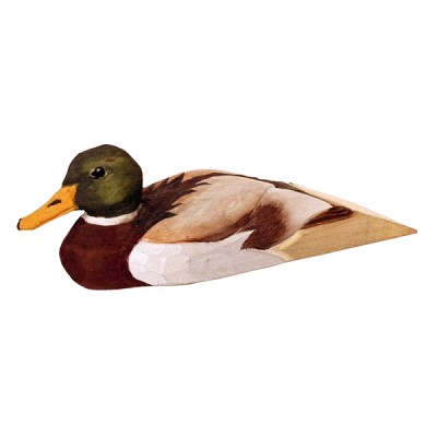 Hand Carved Wood Door Stop - Duck