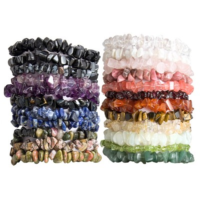 Gemstone Chip Bracelet - Assorted (12)