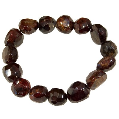 Garnet Faceted Bracelet
