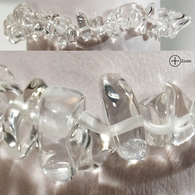 Gemstone Chip Bracelet - Clear Quartz (3)