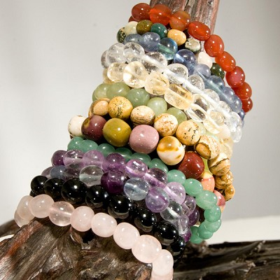 Gemstone Nugget Bracelets - Assorted (12)