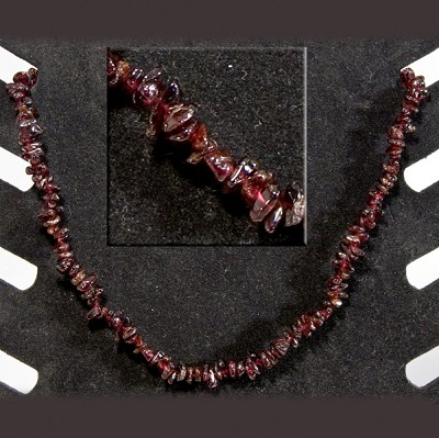 Gemstone Chip Necklace (18 inch) - Garnet (3)