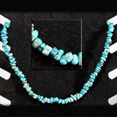 Gemstone Chip Necklace (18 inch) - Turquoise