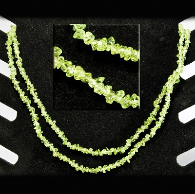 Gemstone Chip Necklace 36 in. - Peridot