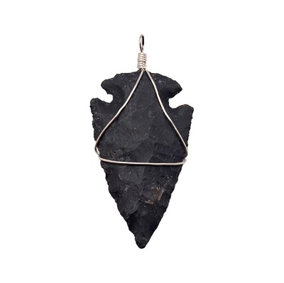 Arrowhead Pendants - Black Agate (3)