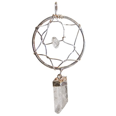 Dream Catcher Pendant - Clear Quartz