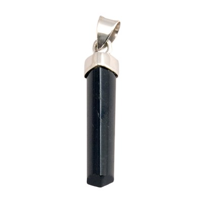 Black Tourmaline Pendant - Polished Point