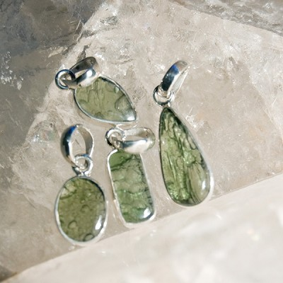 Moldavite Pendant - Medium (Polished)