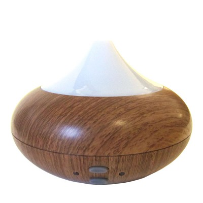 Electric Aromatherapy Diffuser - Teardrop Wood Grain Finish w/ White Top
