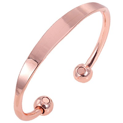 Magnetic Copper Bangle - Plain