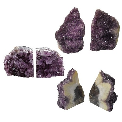 Amethyst Bookends - Rough Edge X Large