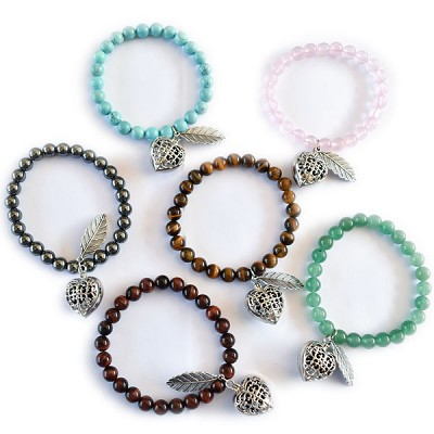 Aromatherapy Heart Bracelets - Assorted (12)