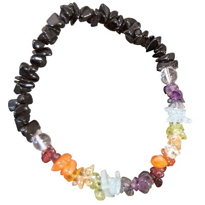 Chakra Gemstone Bracelet - Chip with Black Tourmaline (3)