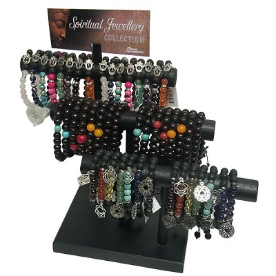Bracelet Bar Display - Spiritual Themed Assorted (50/Display)