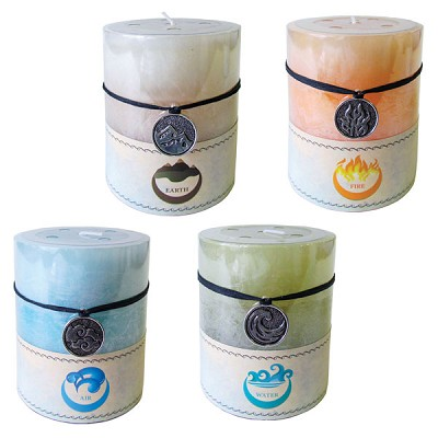 Elemental Pillar Candle - Assorted (4)