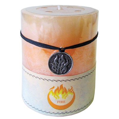 Zenature Elemental Pillar Candles - Cinnamon / Fire (2)
