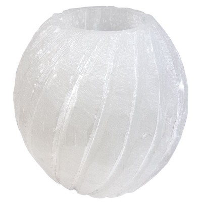 Selenite Twist Candle Holder