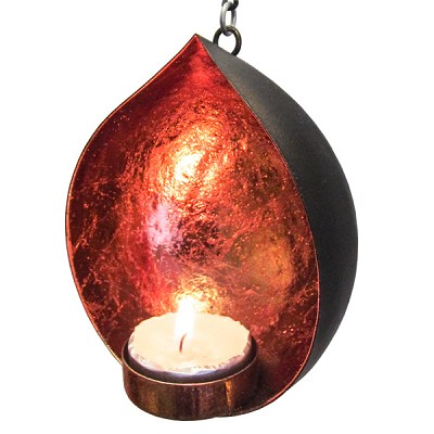 Teardrop Candle Holders - Copper Accent