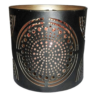 Tin Candle Holder - Mandala