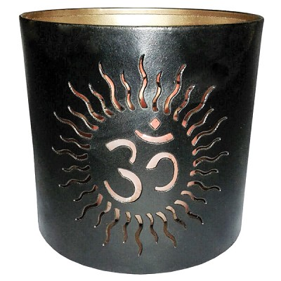 Tin Candle Holder - Om