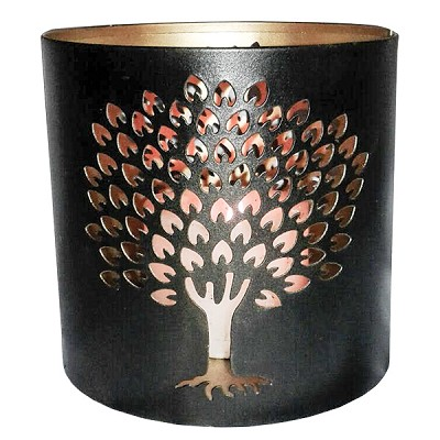 Tin Candle Holder - Tree of Life