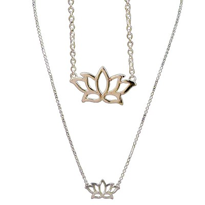 Necklace with Lotus Charm (5)