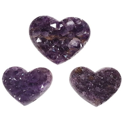 Polished Edge Heart - Amethyst Cluster (Small)
