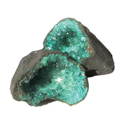 Cracked Coloured Geodes - Green