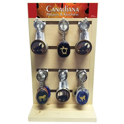 Canadiana Keychain Display - Assorted (48/display)