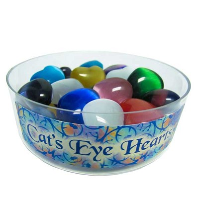 Mini Heart Display - Cats Eye 30 mm (30/display)
