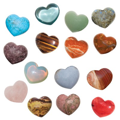 Puffy Heart Stones - Assorted (6)