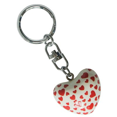 Harmony Heart Keychain - White - Red Hearts (6)