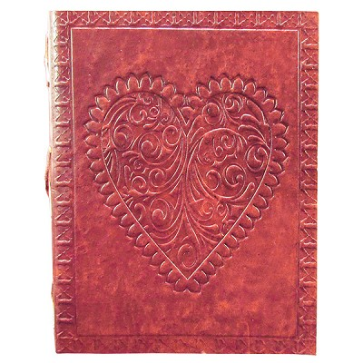 Leather Journal - Heart (6 x 8 inch)