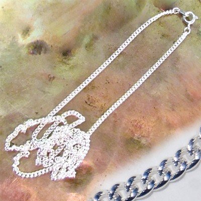 Necklace Chain - Diamond Cut Curb (24 inch) Sterling Silver (10)