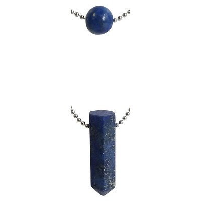 Layered Bead and Point Necklaces - Lapis Lazuli