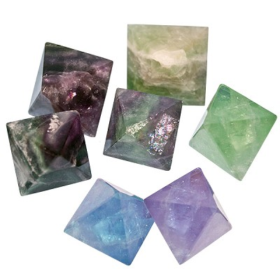 Fluorite Octahedrons - Natural Rough Medium (4)