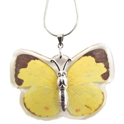 Butterfly Insect Pendant - Yellow