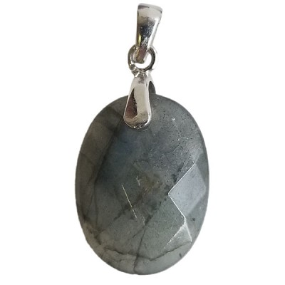 Faceted Oval Pendant - Labradorite
