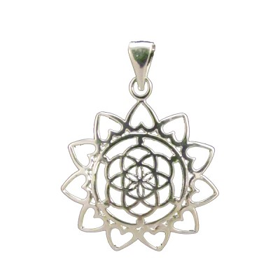 Seed of Life Heart Pendant