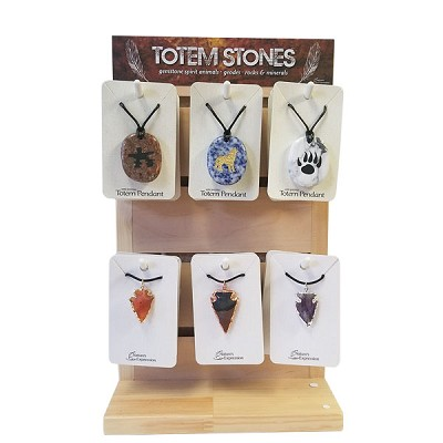 Pendant Display - Totem and Arrowhead (24/Display)