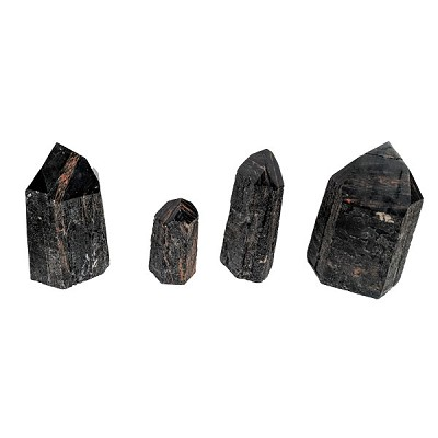 Cut Base Point - Black Tourmaline with Iron
