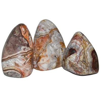 Free-form Tumbled Stone Sculptures - Crazy Lace Agate