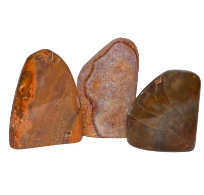 Free-form Tumbled Stone Sculptures - Fire Agate