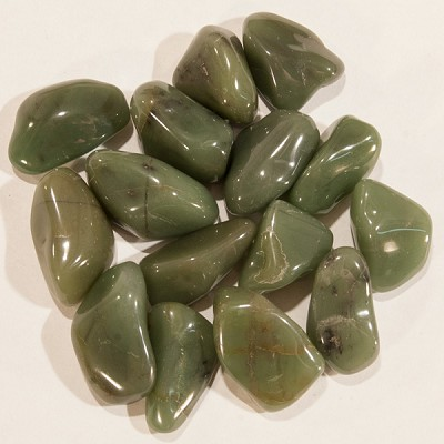 Tumbled Stone - Green Chalcedony (1 lb)