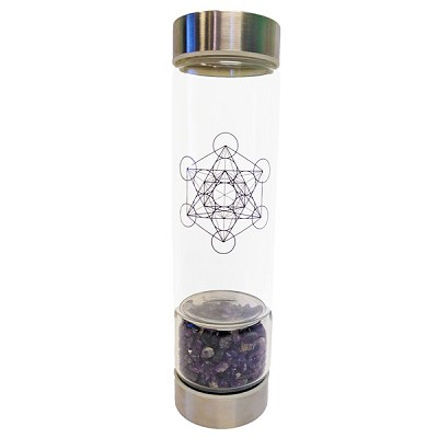 Zenature Amethyst Crystal Infuser Water Bottle (500 ml)